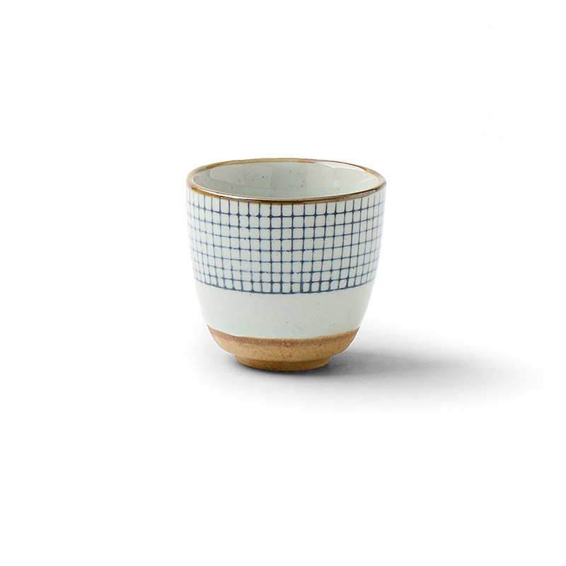 Modern japonya tarzı seramik bardak benekli kahve çay kil seramik kupa kaymaz taban ile