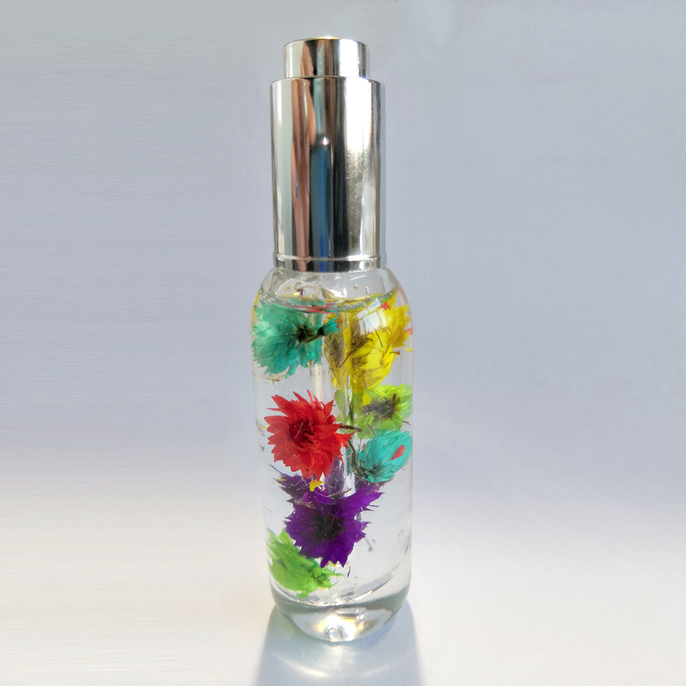 50ML Flower Scented Nail Nourishing Liquid Revitalizing cuticle oil with dry flowers