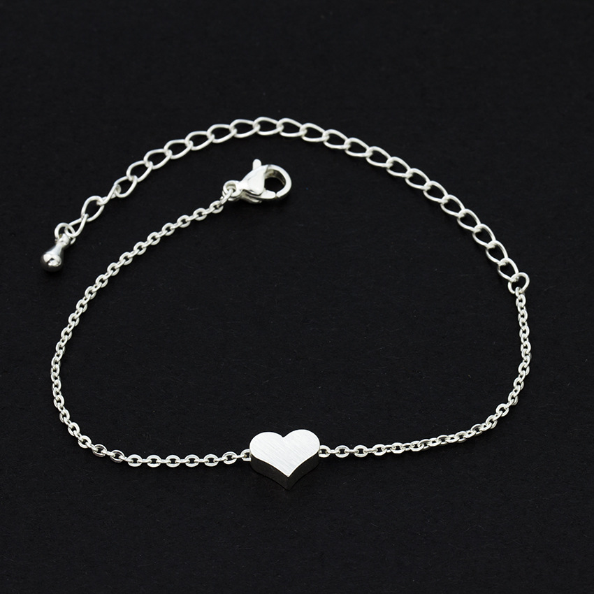 Wholesale Charm Women Fashion Heart Shape Stainless Steel Bracelet
