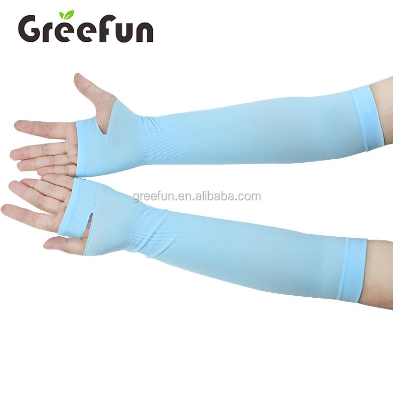Пользовательские Цвет Мода Велоспорт Arm рукава унисекс ледяного охлаждения рукава Защита от солнца блок УФ Защита повязку крышка для