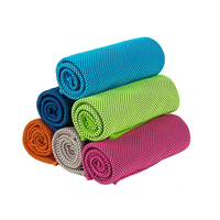 Stock lots japanese micro fibre polyester polyamide drying workout towel custom