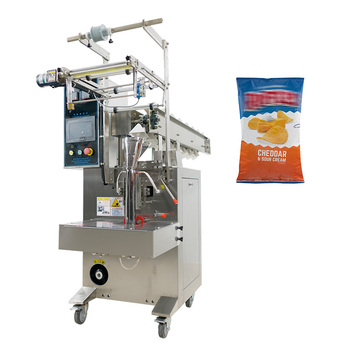 Semi automatic form fill seal bucket chain feeding packing machine for potato chips