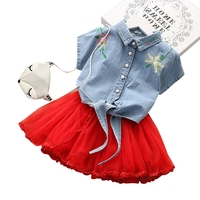 Bulk Wholesale Kids Clothing The Most Beautiful Cotton Pinafore Children Detachable Skirt Wedding Summer Dresses