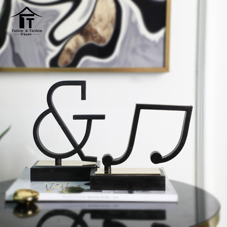 Arabic contemporary music themed home decor music sigh scupture decor
