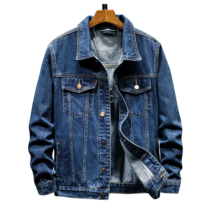2019 New style Casual Denim Motorcycle <strong>Jacket</strong> wholesale Plus Size Cowboy cotton warm washed button <strong>winter</strong> jeans <strong>jackets</strong> <strong>men</strong>