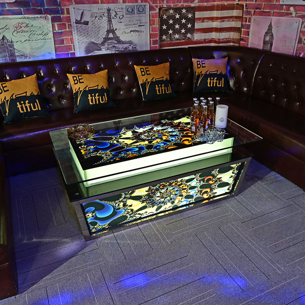 ZCYL Cool bar furniture/ nightclub/ KTV/ night club/led cube table wholesale hookah lounge furniture