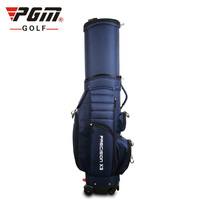 PGM NEW ARRIVAL Cost Effective 4 Way Wheels Retractable Telescopic Golf Bag With Brake