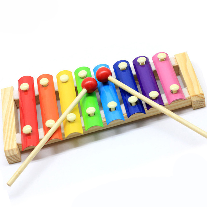 Rainbow Kids Musical Instruments Hand Knocks Piano Wooden Toys Professional Wooden Xylophone For Kids