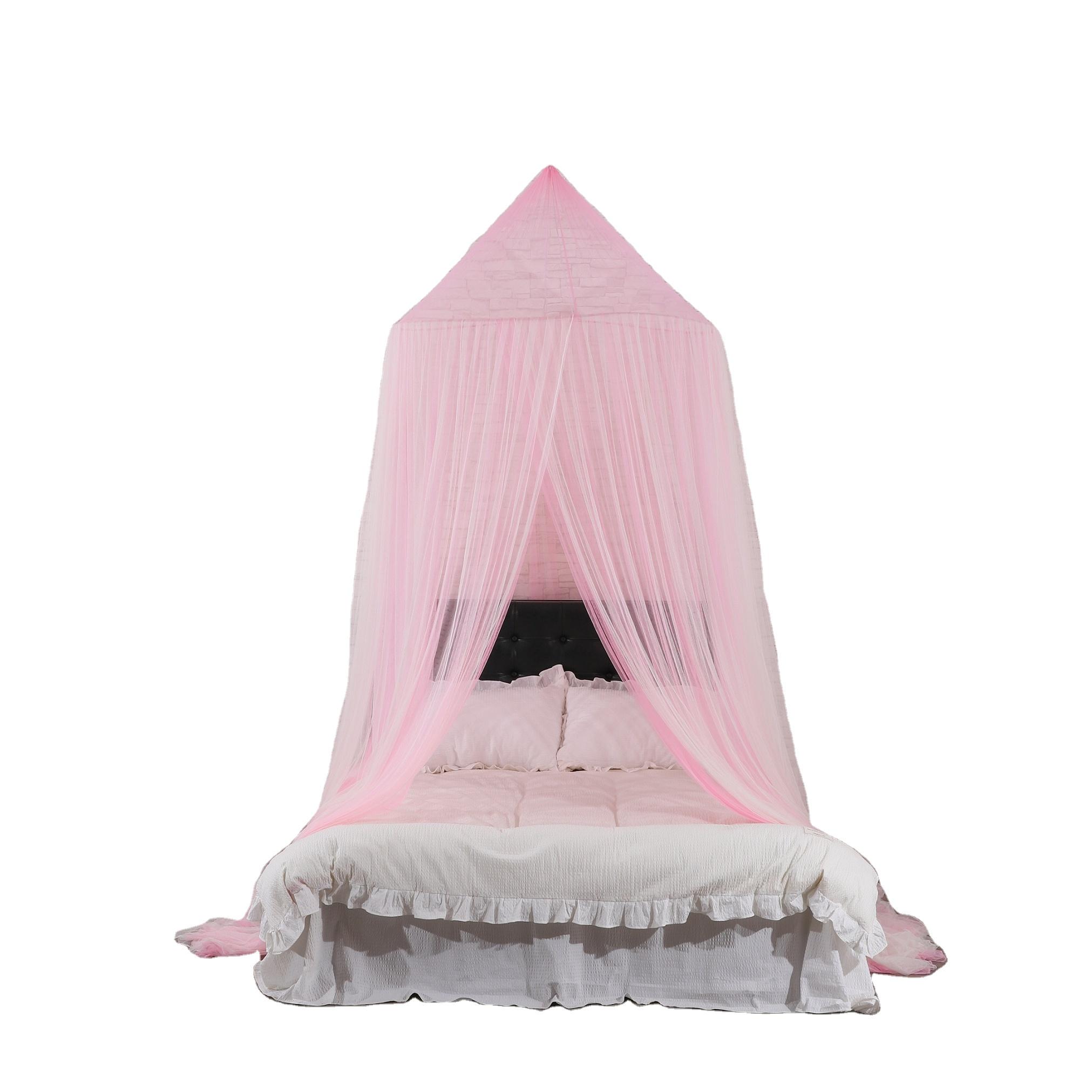 תליית מיטת נסיכת חופה יפה ילדי תינוק כילה ב ורוד