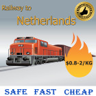The cheapest price from china to Netherlands DDP Railway to Netherlands door to door