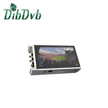 Small Digital TV system,H.264 1080p encoder with LCD touch screen