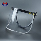 "Heavy Duty Aluminium Black Full Brim Hard Hat Face Shield Adapter Universal Bracket PVC Visor 8""x15.5"""
