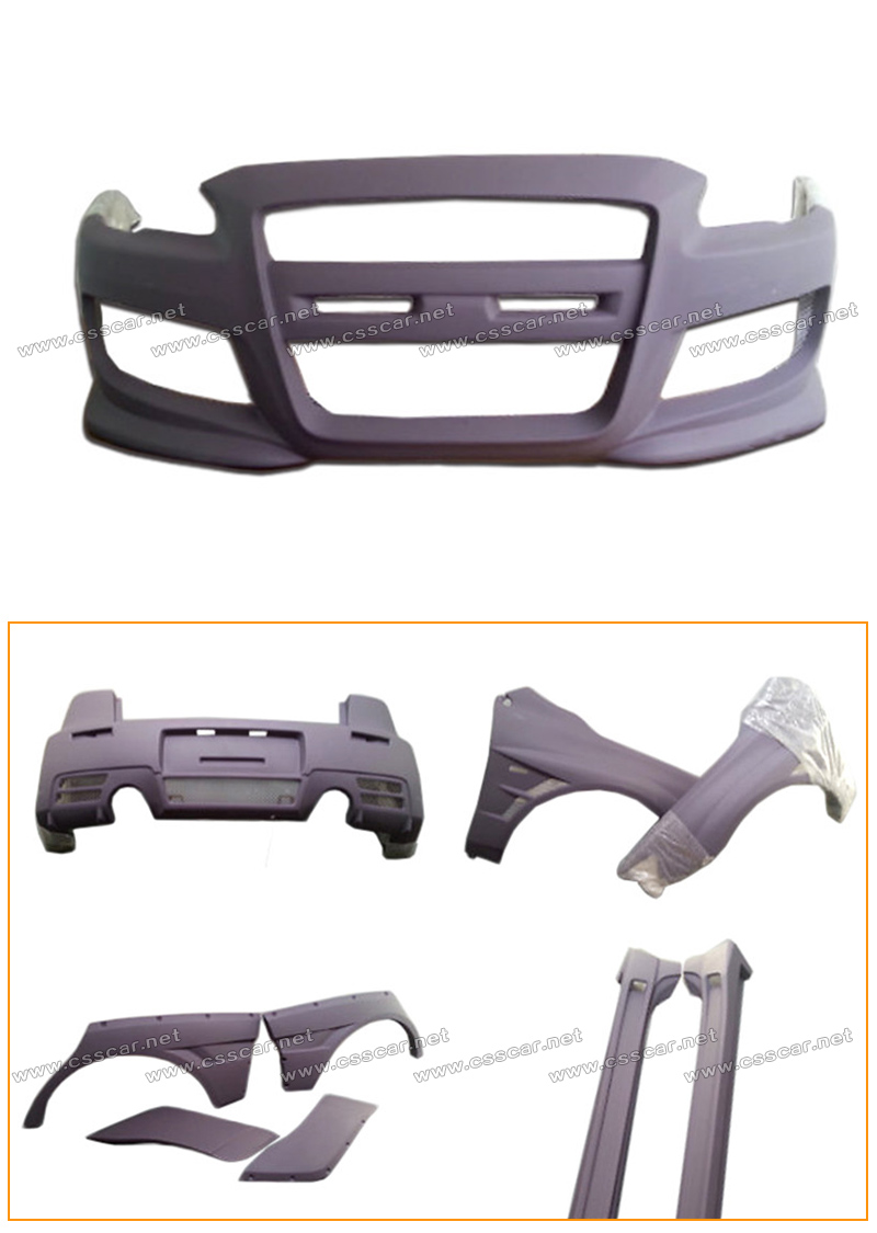 Hot sale the wide body kit frp material for mitsubishi evo-10 body kit