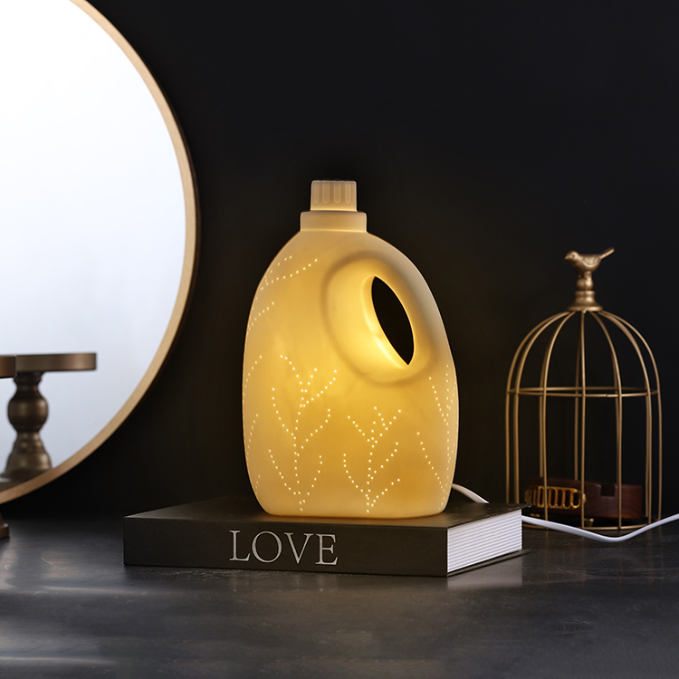 Chinese factory manufacture unique shaped room decoration ceramic led night light