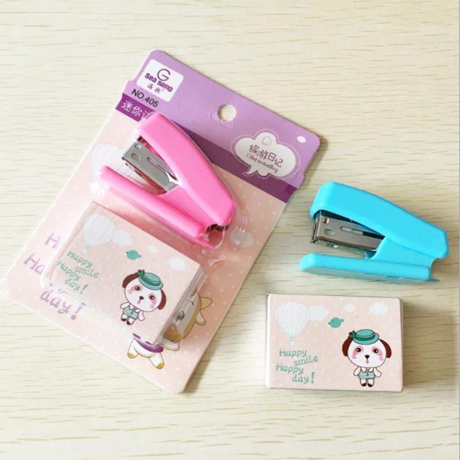 school stationery set Mini lovely paper stapler book