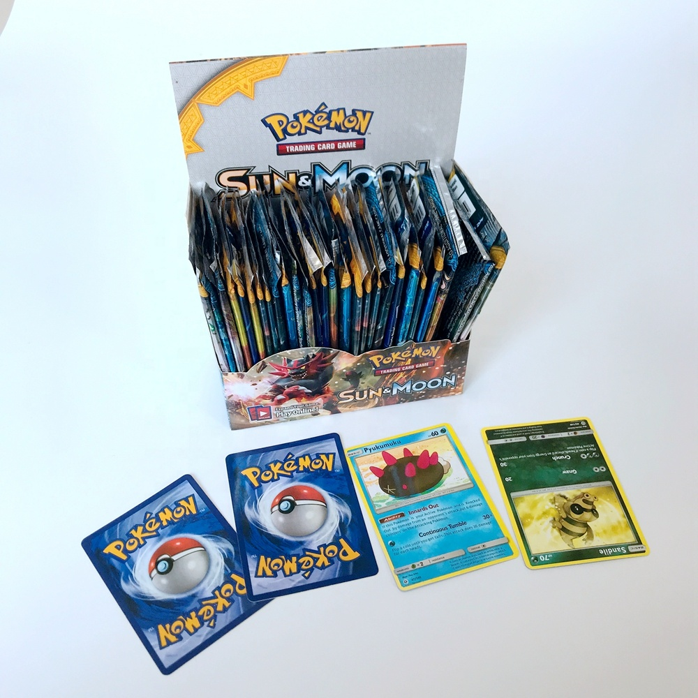 hot sale ready to ship custom pokemon cards trading cards game