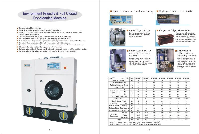 14kg electric heating perc laundry dry cleaning equipment price