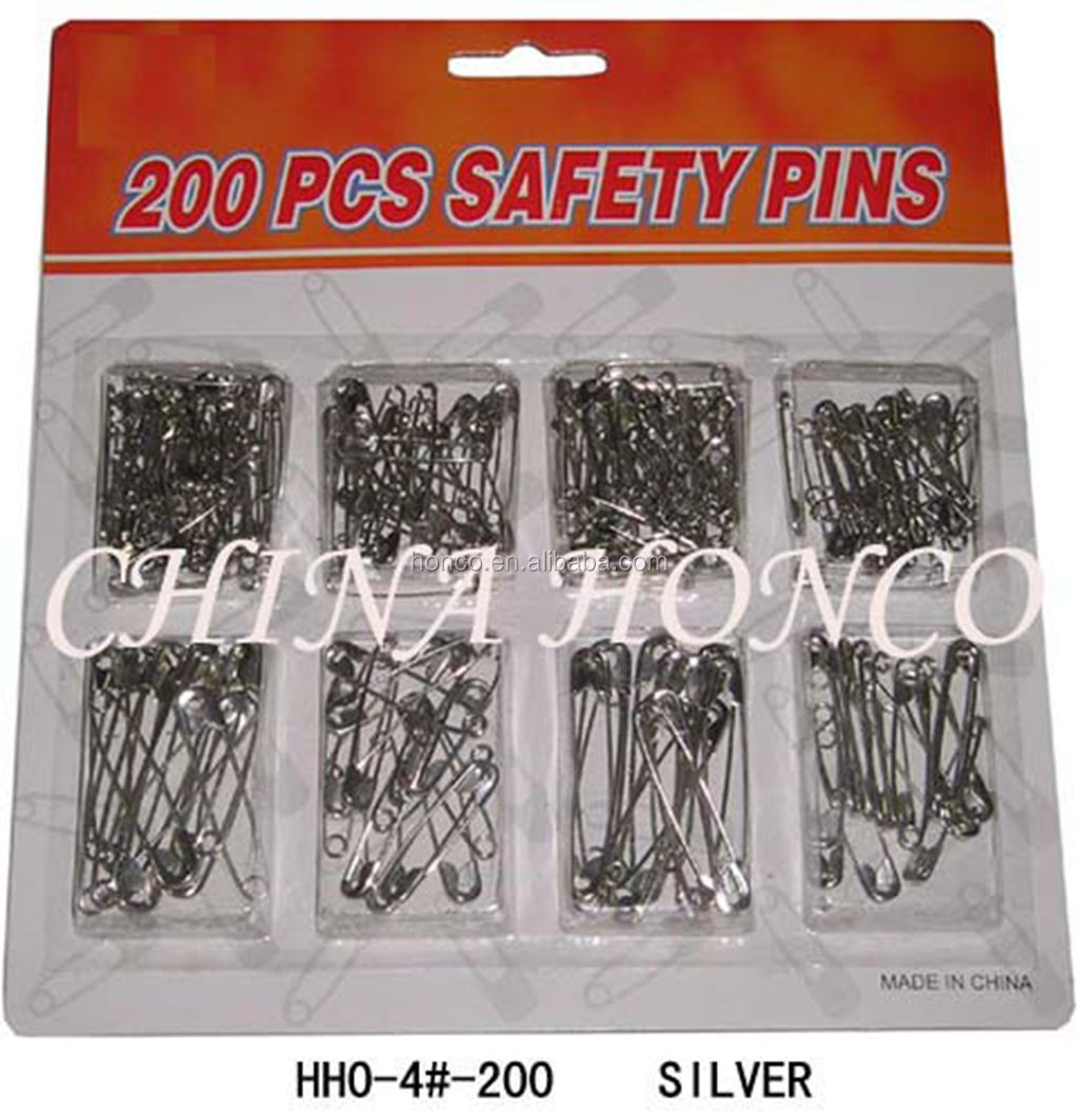Manufacturer safety pins with low price 19mm to 72mm difference size safety pins