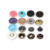 customized metal logo press flat snap button kit for raincoat