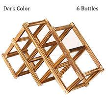 Полка для вина DEOUNY из твердой древесины, креативная Складная подставка для винных бутылок, простая прочная стойка для винных бутылок 3/6/10, ак...(Китай)