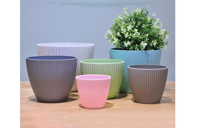 컬러 야외 플라스틱 화분 & 재배자 중국 장식 대량 꽃 냄비/