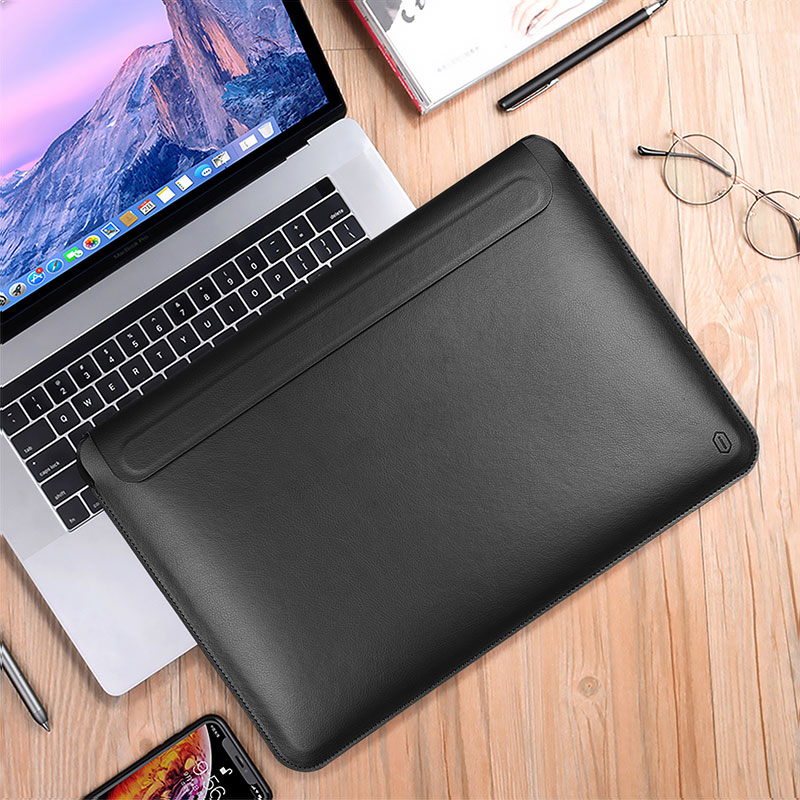 WiWU 2020 Newest Ultra-slim Skin Pro III PU leather Laptop Sleeve with Portable Laptop Stand Exclusive design in stock