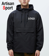 Custom windbreaker met logo Casual Jassen Winddicht windbreaker met kap Regendicht Windjack jas <span class=keywords><strong>Outdoor</strong></span> Outfit
