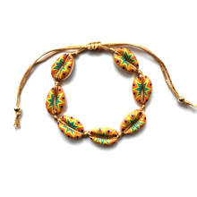 Hawaiian Holiday Armband Multicolor Waxed Touw Strand Hawaii Natuur Shell Armband Seashell Armband voor Vrouw