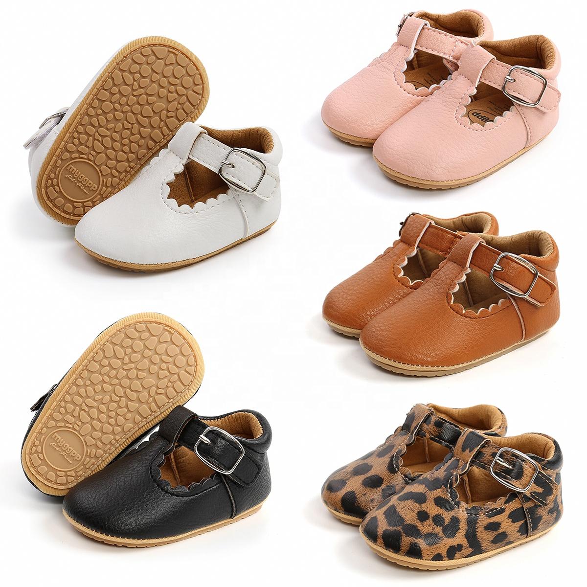 2020 New fashion Rubber Sole T-Bar newborn prewalker Anti-slip toddler baby girl shoes