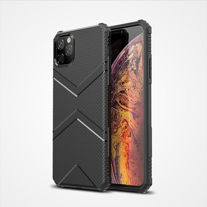 <strong>V</strong> Shaped Design Shockproof TPU Phone Case For iPhone <strong>11</strong> Pro Max 2019