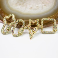 BD-A004 30*30mm Fashion cz clasp charm, cubic zircon micro pave charm, gold silver plating cz charm jewelry accessories