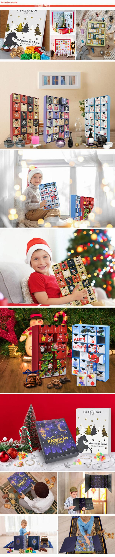 Factory Custom Printed Gift Paper Drawer Ramadan Box Cardboard Advent Calendar Packaging Magnetic