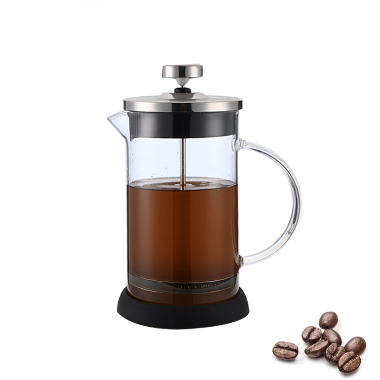 Multi Warna Kustom Logo Logam Kecil Portable Bahasa Perancis Coffee Press