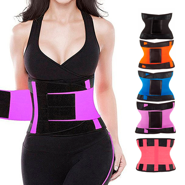 Unisex Sweat Belt Power Gym Shaper Girdle Slimming Adjustable Neoprene Waist Trainer Corset