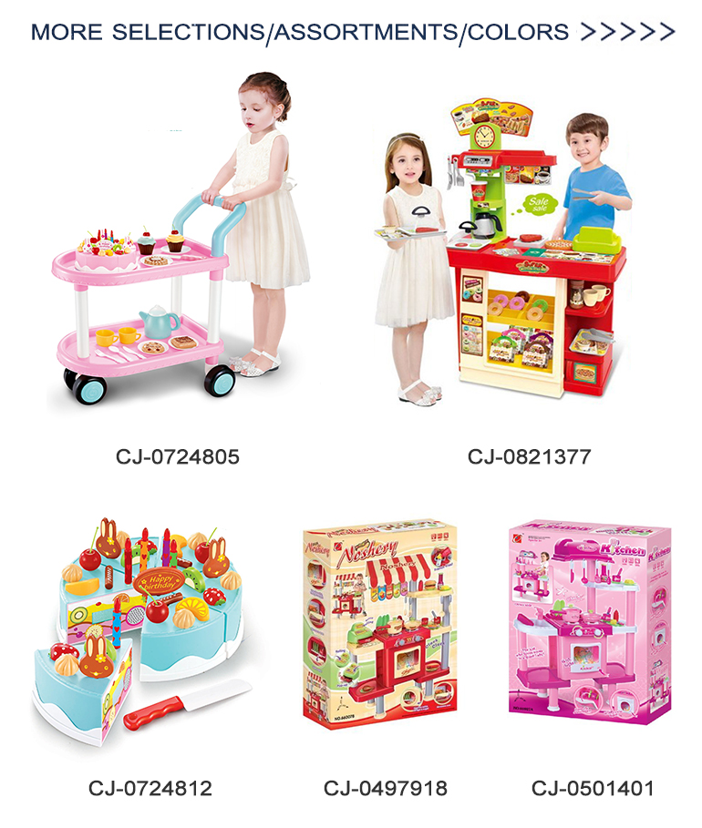 Plastic pretend play cooking children food tableware kids kitchen toys set