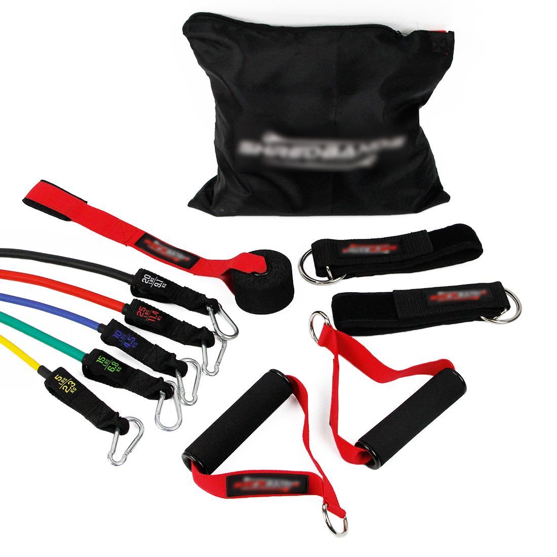 Procircle Stretch Handle Exercise Latex Loop Resistance Bands