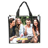 China manufacturer fashion new design eco friendly reusable ecological custom logo printed shopping tote laminated non woven bag