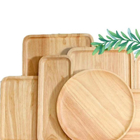 Rectangular Wood plates serving Tray