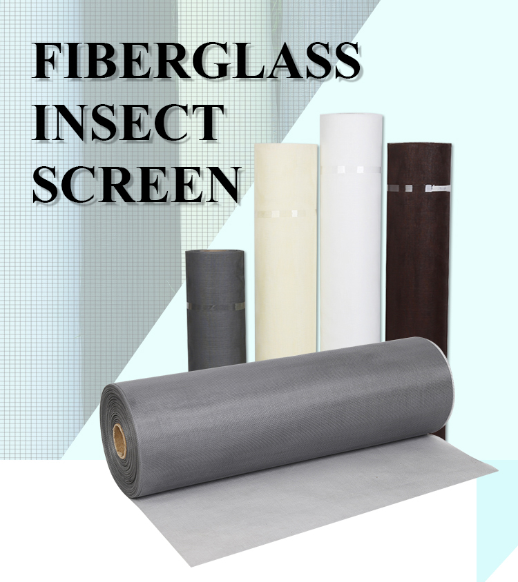 high quality fiberglass insect screen for window and door