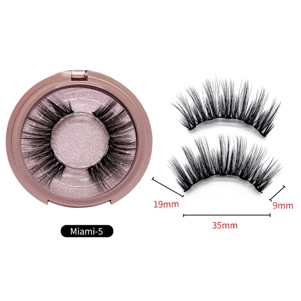 OEM 5 Magnet Magnetic False Eyelashes Natural Full Coverage Glue-free Magnetic False Eyelash Lashes Extension Make up Tools