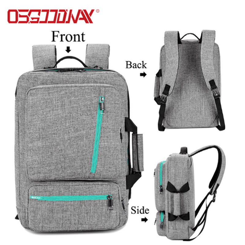 Osgoodway Multi-function Lightweight Fashionable 17 Inches Nylon Travel Laptop Backpack for Men Women