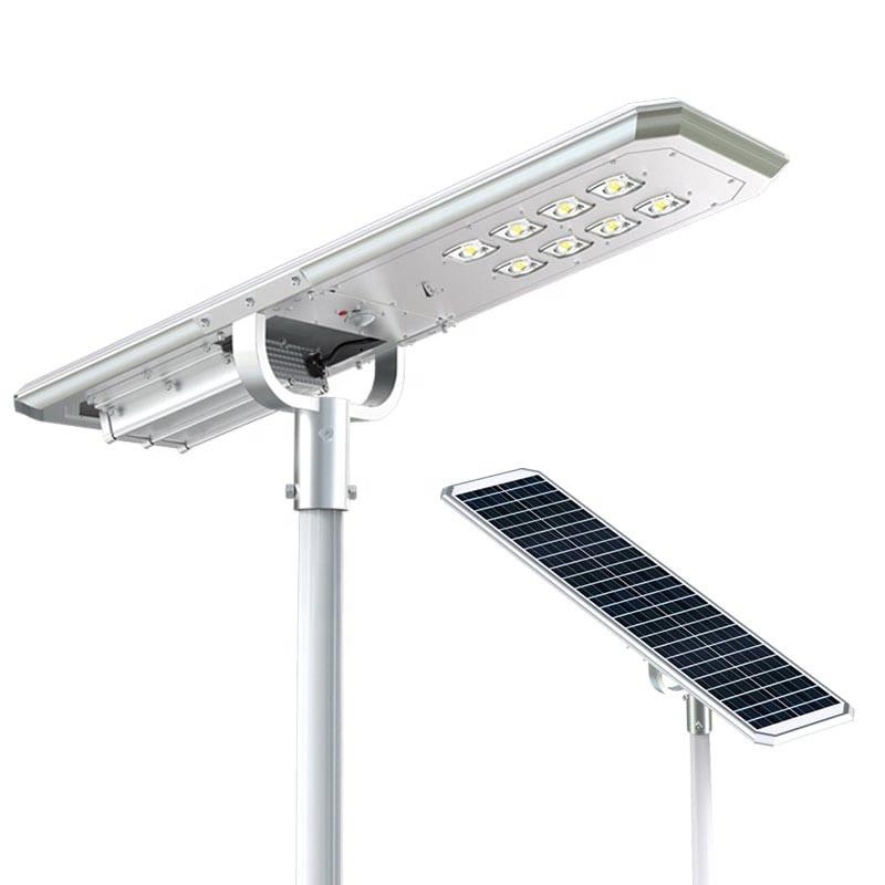 High power solar lamps 72 watt 60w 80w led street light for rural areas