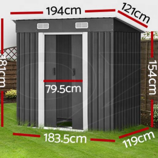 Garden Shed Sheds Outdoor Storage Workshop Metal Base Tool Multi-size
