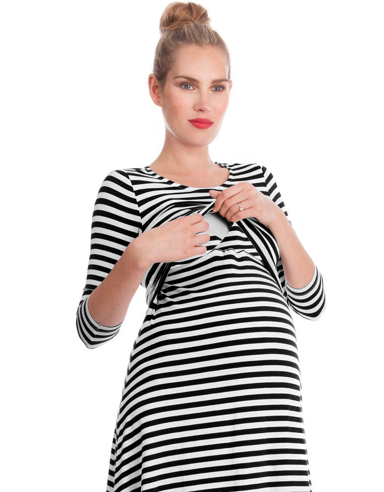 Women's S-XL <strong>Maternity</strong> <strong>Dress</strong> Nursing Nightgown r <strong>Dresses</strong> for Breastfeeding Nightshirt Sleepwear