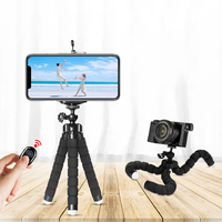 Mini tripod Sponge Pocket Vlog Ball Head Octopus Flexible Phone camera Tripod tripod for smartphone