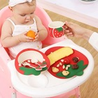 Fiber dinner sets children's bamboo fiber divided plate set
