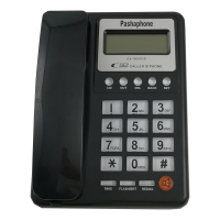 Black Color Caller ID Phone Corded Landline Hotel Home Office Telephone
