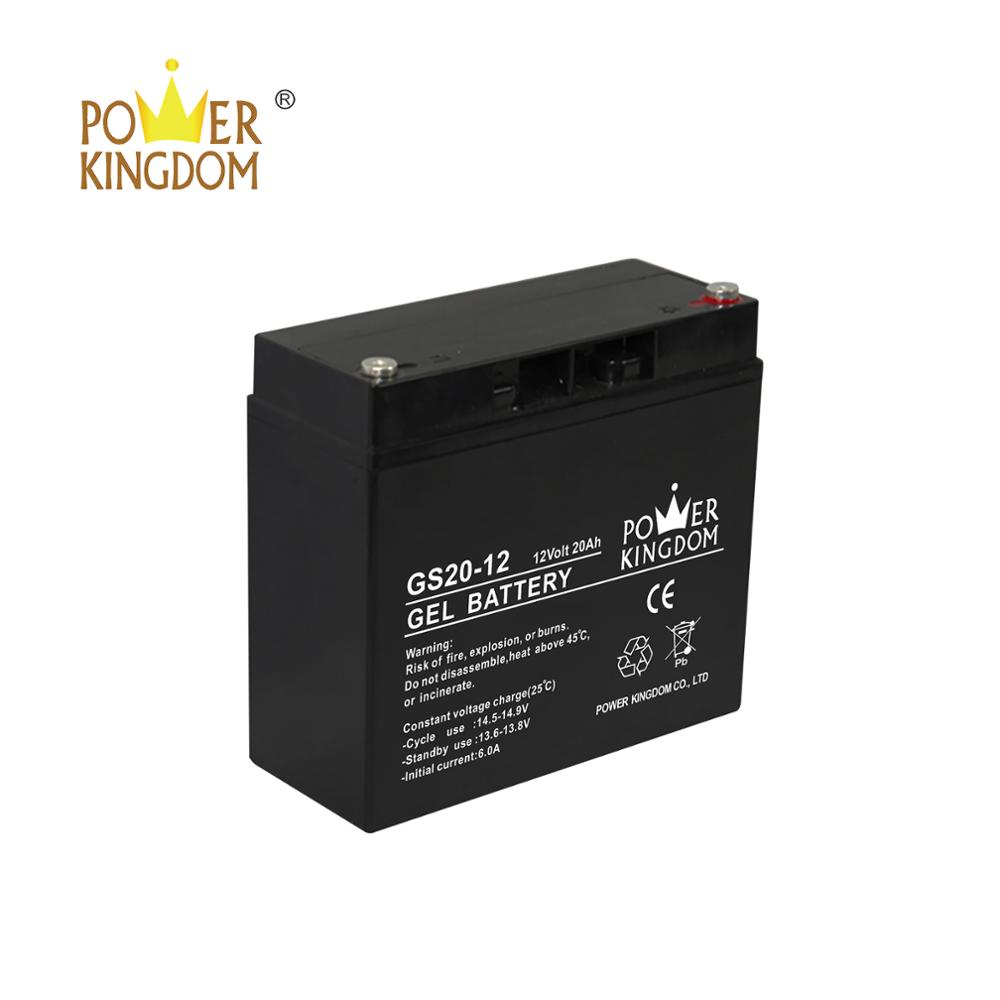 vrla 12v 20ah solar gel battery for storage