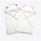 Organic bamboo baby blanket white bamboo hooded towel