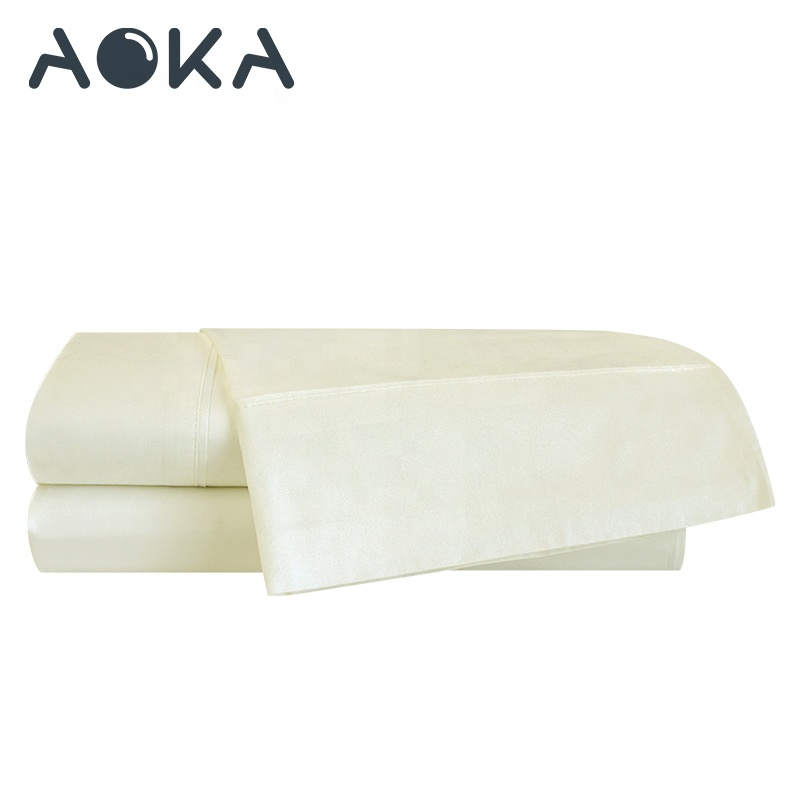 Aoka AU Ukuran Single Sheet Set Katun Polos Set Tempat Tidur 3 Piece Seprai